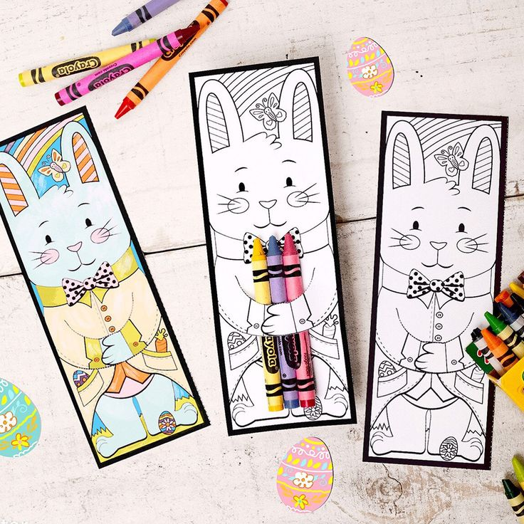 Check Out My Newest Easter Printable A Coloring Sheet That Doubles As Crayon Hugger