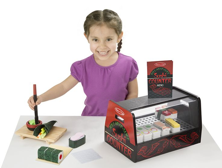 The Melissa and Doug Sushi Counter is a fun toy for imaginative play and introduces your child to the world of sushi.
