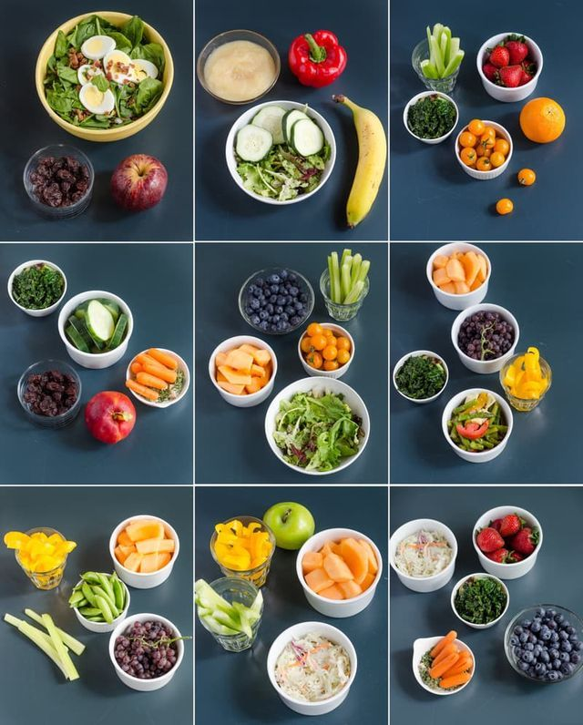 Here Are 10 Pictures of Your Daily Recommended Servings of Fruits & Vegetables (Image credit: Faith Durand) Keeping a stash of cut fruits and vegetables on hand
