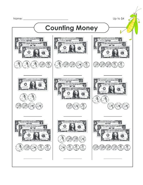 Counting Money Up to 14 – Coin Worksheets Free