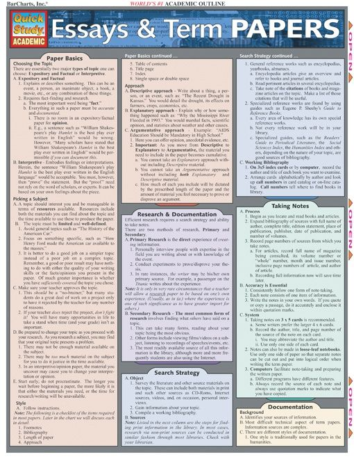 best term paper ideas research paper college quick guide to writing essays and term papers