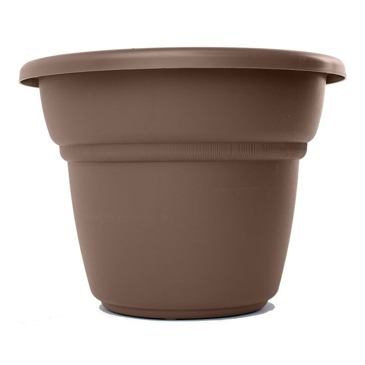 Bloem Milano Planter Chocolate (Bloem Milano Planter, 18, Chocolate), Brown (Plastic) #MP1417-45, Outdoor Décor