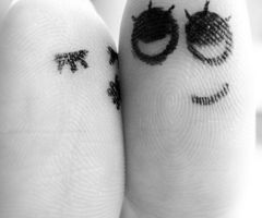 These finger people make me smile
