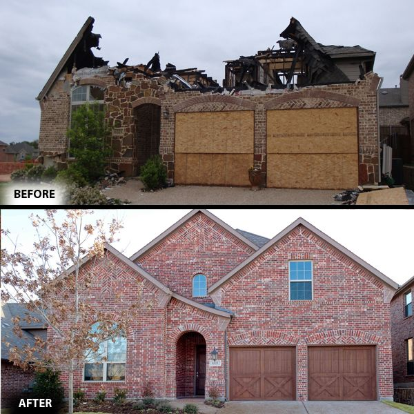 Fire Damage Restoration Before And After In McKinney TX By