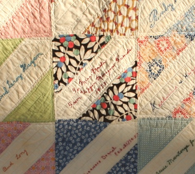 Quilt with names & Dated to the 1930's... beautiful~!