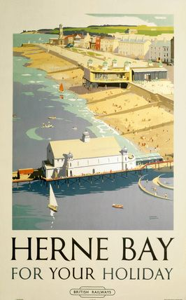 Herne Bay for Your Holiday: British Railways vintage travel poster