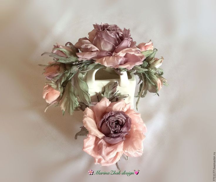 """Купить Комплект аксессуаров -""""Свадебный переполох в розово-сливовых тонах"""" - бледно-розовый, свадебные аксессуары"""