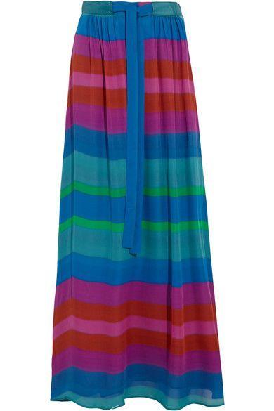 Etro | Printed silk crepe de chine maxi skirt | NET-A-PORTER.COM