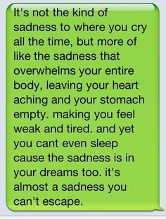 This is a good way to describe a real broken heart. I know deep inside I cant ever be that sad again. Breaking up is often tough to live with