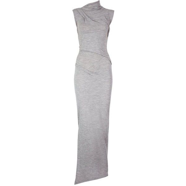 Joseph Romy Maxi Dress (€180) ❤ liked on Polyvore featuring dresses, grey, stretch maxi dress, joseph dress, gray dress, stretchy dresses and maxi dress