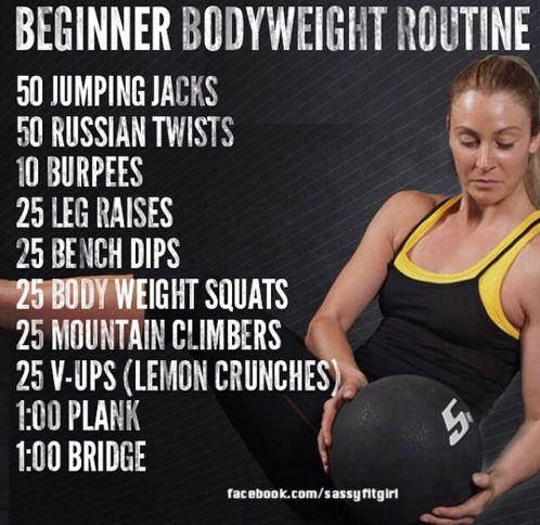 Beginner Body Weight Workout Routine