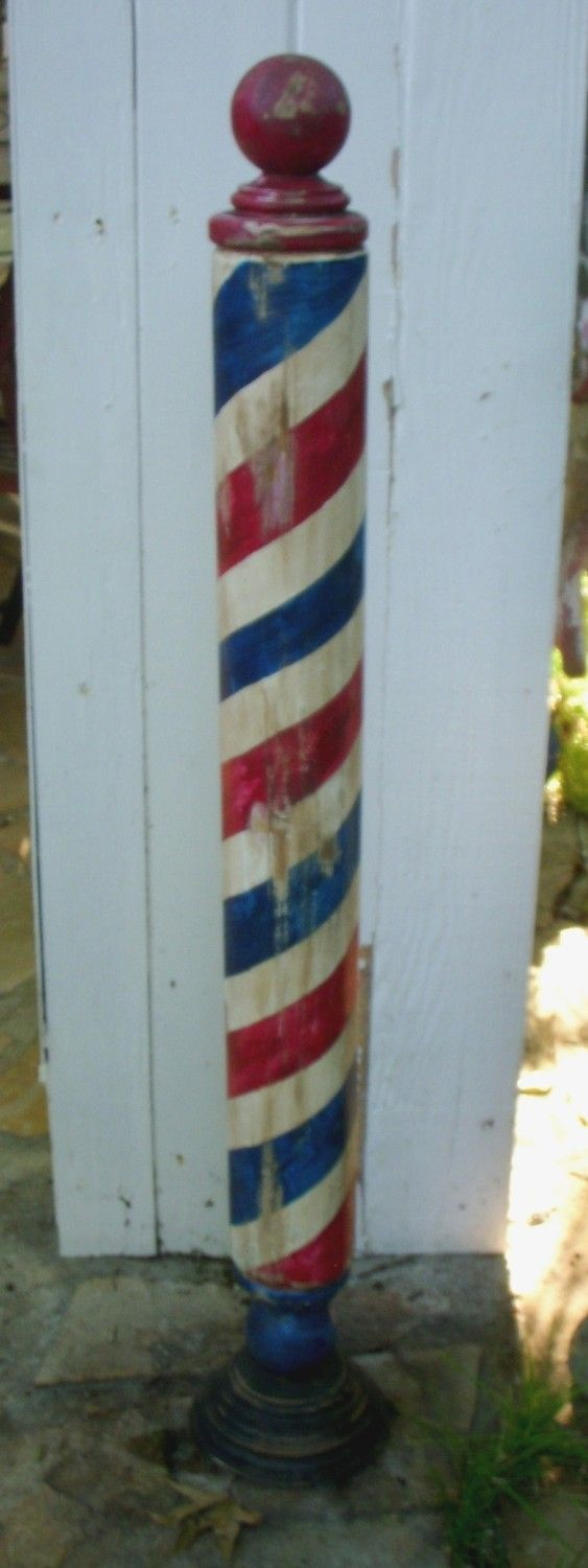 Antique Replica Handcrafted Barber Pole by by mikesbarberpoles, $350.00