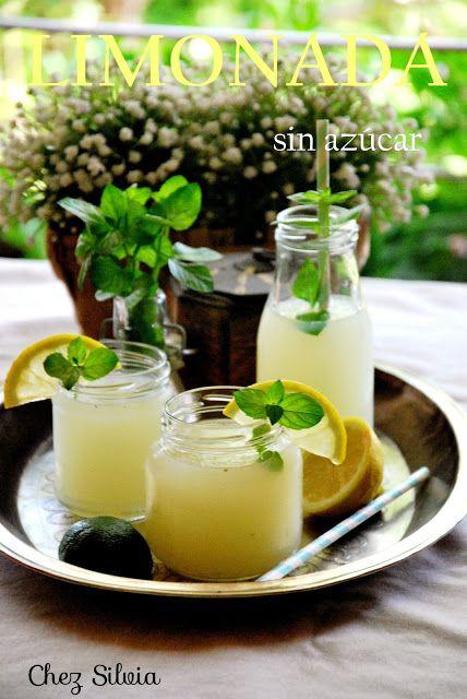 CHEZ SILVIA: Limonada de lima, limón y menta {Sin azúcar}