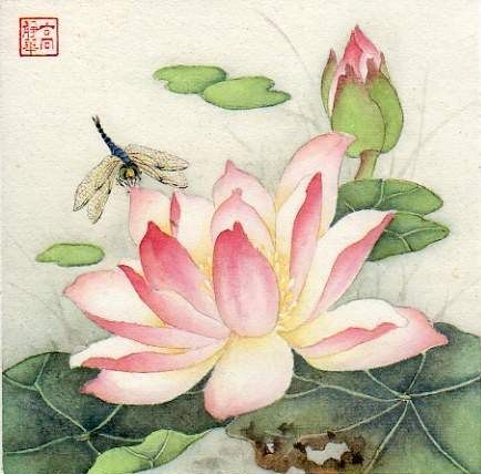 """Summer Guest"" - Original Fine Art for Sale - © Jinghua Gao Dalia"