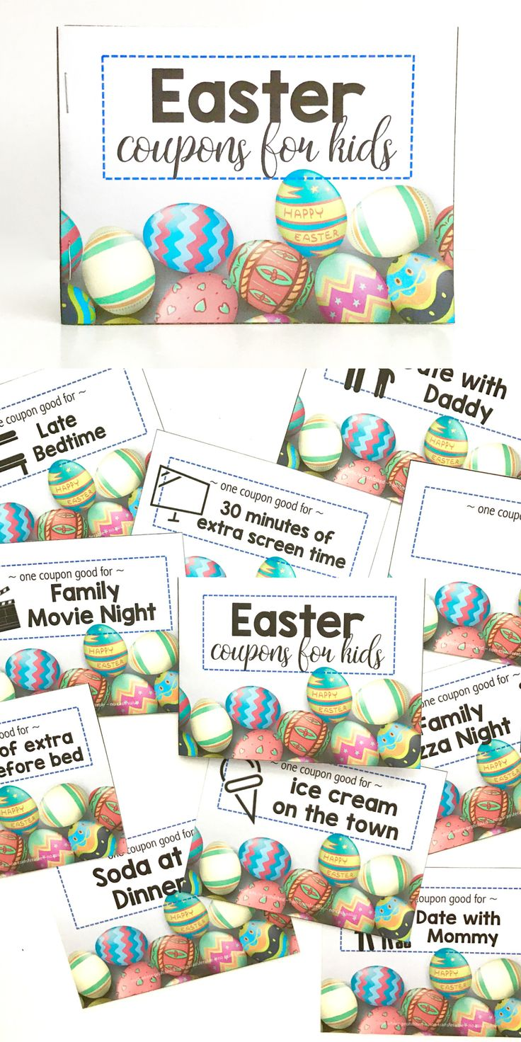 Create and craft coupons - Printable Easter Coupons For Kids