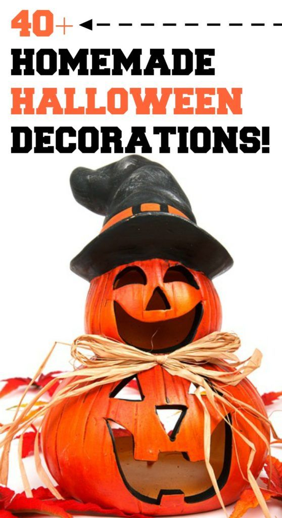 40+ HOMEMADE HALLOWEEN DECORATIONS!  Over 40 of the BEST Homemade Halloween Decorations to share with you today! These Spooky ideas are very easy to make and you will have the scariest house in your neighborhood!