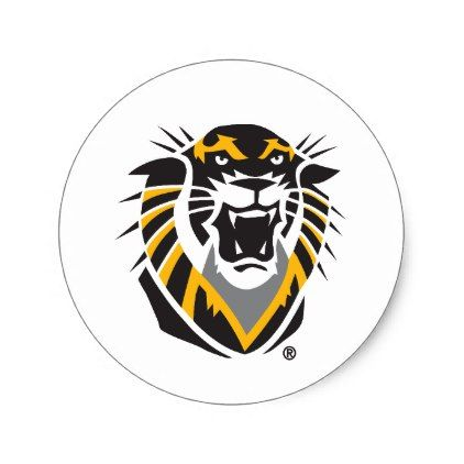 Fort Hays State Primary Mark Classic Round Sticker - college stickers unique design cool sticker present gift
