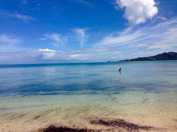 Liam a loner in the ocean