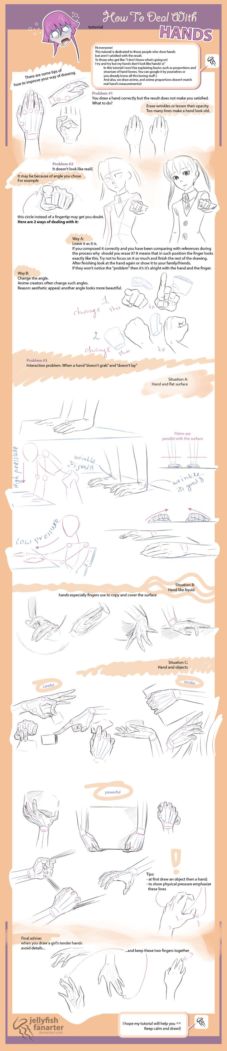 Manga Hands How To Deal With Hands  Tutorial