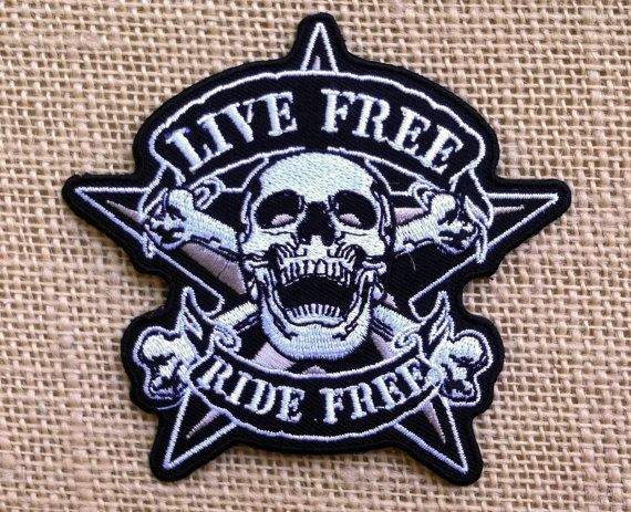Biker Patch. Punk Iron On Patches for by RainbowEffectsTieDye