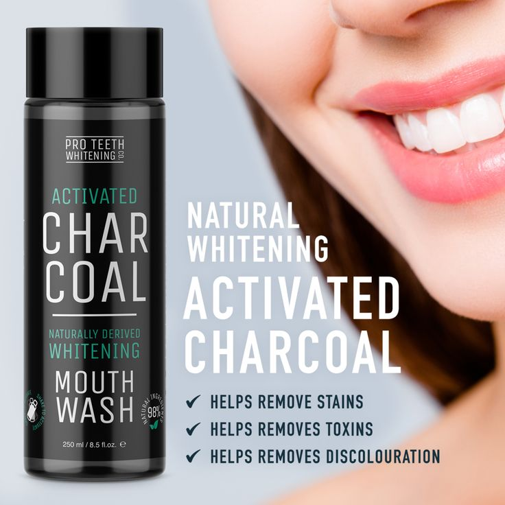 Activated Charcoal Natural Teeth Whitening Mouthwa…