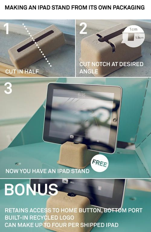 iPad Stand from its Packaging + 3 More DIY iPad Docks and ...