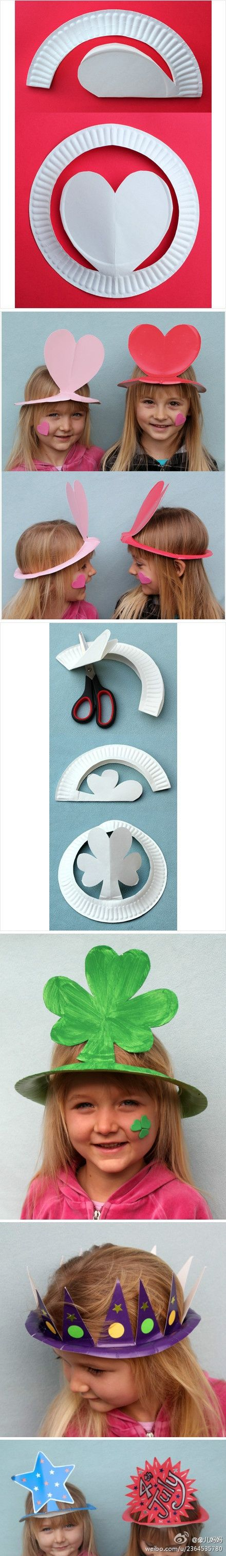 Easy to make paper crowns !
