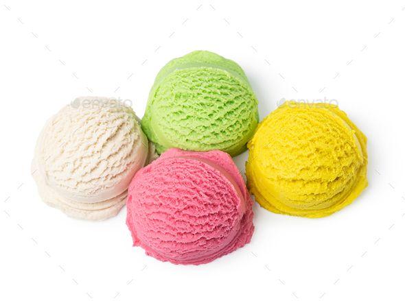 Ice Cream Ball Isolated With Images Ice Cream Cream Ice