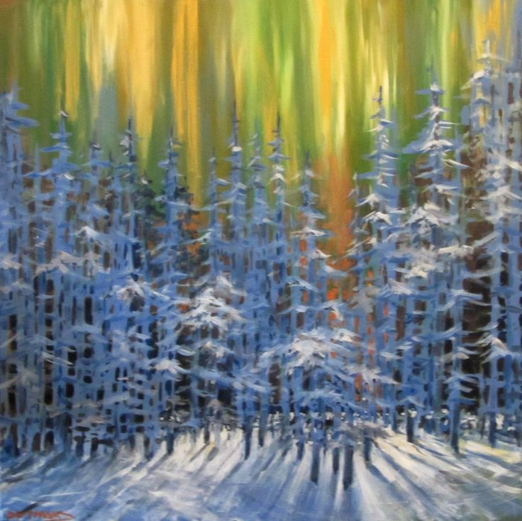 """""""Winter Cathedral"""" 36"""" x 36"""""""