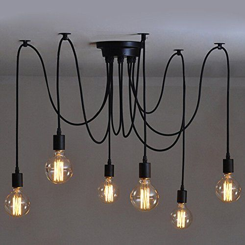 6 pcs Luminaire Suspension-Style Européen Moderne IKEA Lampe Pendante & Lampe Plafonnier-DIY Installation Facile pour Éclairage Cuisine, Salle À Manger, Salon, Chambre D'enfants et de Restaurant