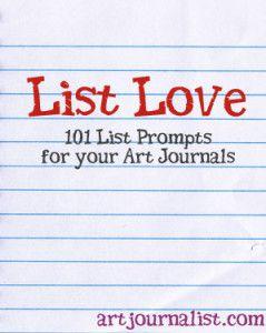List Love: 101 List Prompts For Your Art Journals - Art Journalist