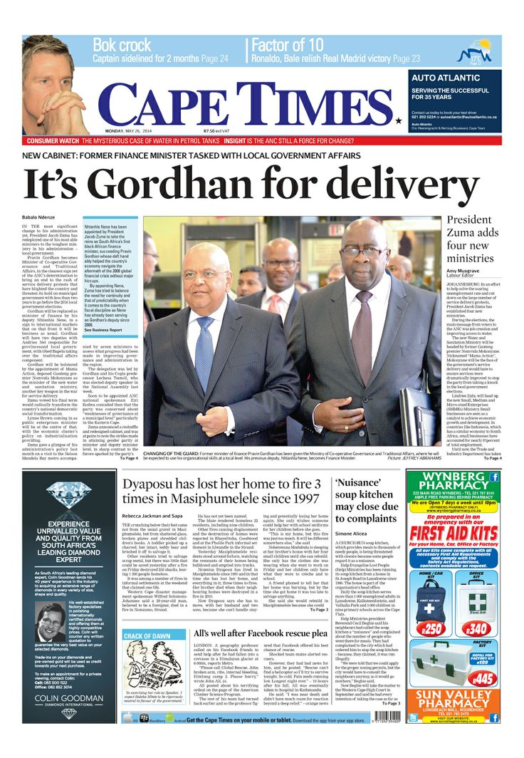 News making headlines: New cabinet: Former finance minister tasked with local government affairs