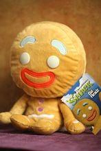 2.014 Genuine Shrek 4 Shrek Gingerbread Man Plyšová panenka homem de gengibre panenka syn původní single dárkové Bigheadz panenka (Čína (pevninská část))