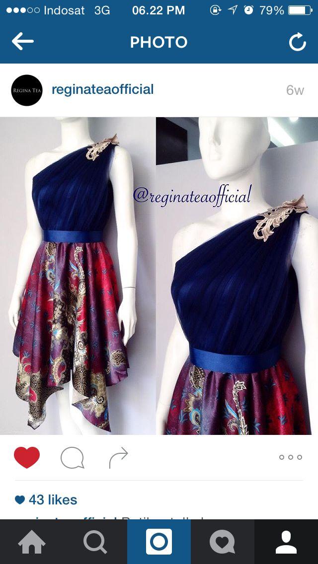 Batik Tulle Dress