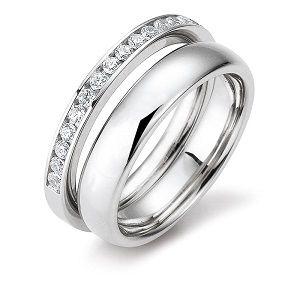 Dámské duo snubní a zásnubní prsten....