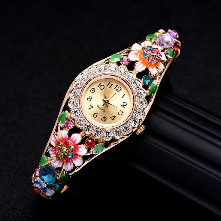 New Fashion Lady Watch Bransoletka Kryształ Kobiet Zegarki Moda Damska Sukienka Zegarek Kwarcowy Zegar Kobieta relogio feminino reloj mujer