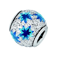 Amore & Baci 6D003 sparkling silver and enamel bead