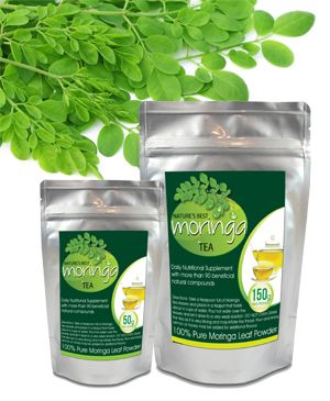 Label Design - Moringa Tea Bags