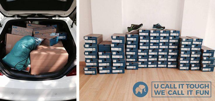 I got my new shoes on...! Die Barmer GEK unterstützt uns...unter anderem mit Brooks-Laufschuhen.... #ecj #ecjtm