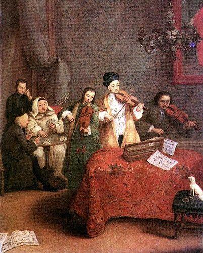LONGHI_Pietro_The Concert PIETRO  LONGHI nato Pietro Falca (Venezia, 15 novembre 1701 – Venezia, 8 maggio 1785)     #TuscanyAgriturismoGiratola