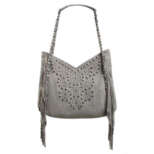 SINGLE FIN HOBO BAG IN Light Grey Suede/Silver Hardware Winter 14 Jodilee. www.jodilee.com.au Facebook: JodiLee Instagram: jodileedesigns
