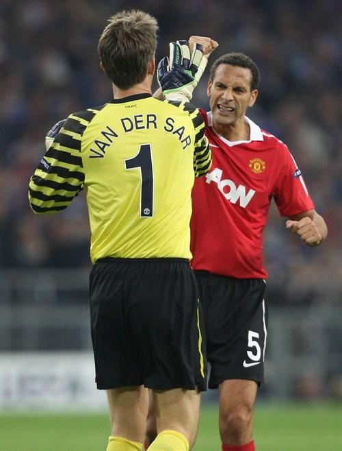 Edwin van der Sar & Rio Ferdinand