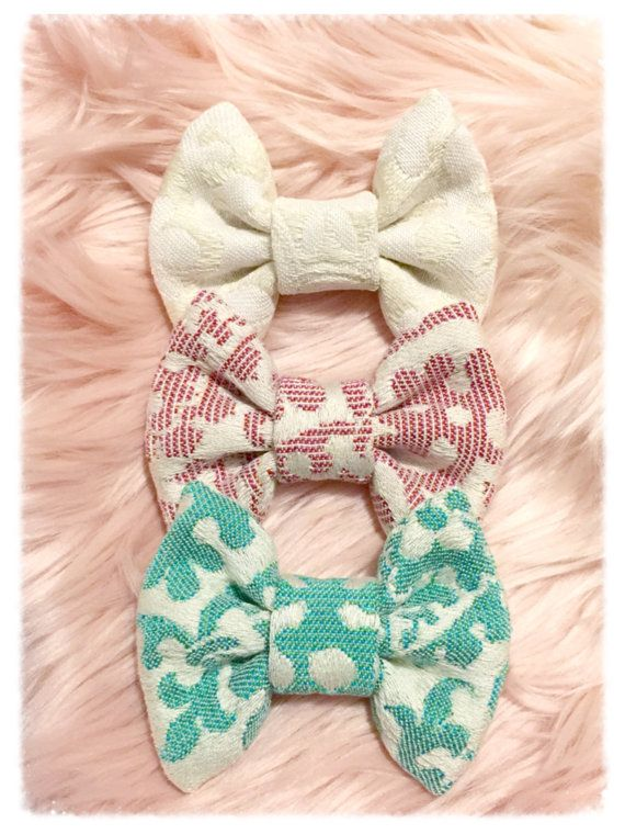 Wrap Scrap Hair Bow by SadiesBigBowBoutique on Etsy