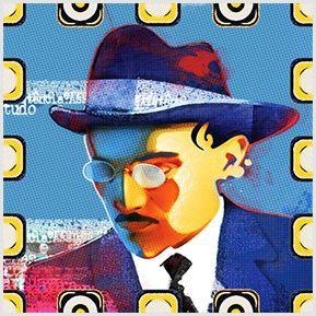 Fernando Pessoa - Quadrinhos confeccionados em Azulejo no tamanho 15x15 cm.Tem um ganchinho no verso para fixar na parede. Inspirados em autores literários. Para entrar em contato conosco, acesse: www.babadocerto.com.br