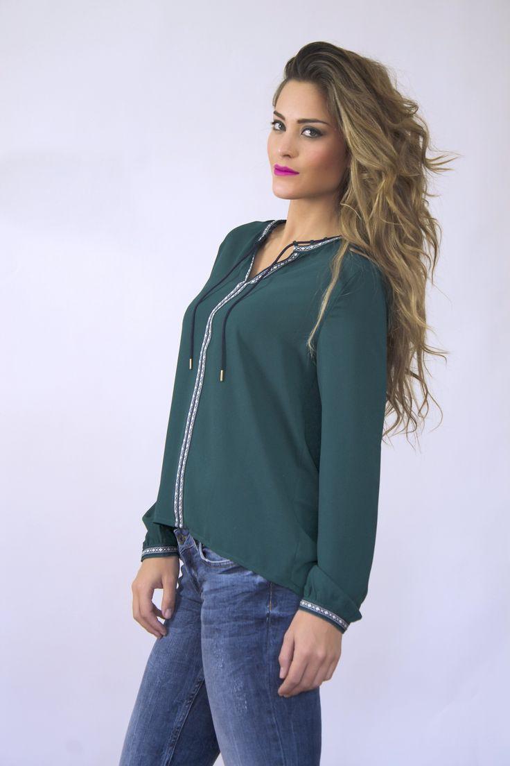Blusa esmeralda S-M-L