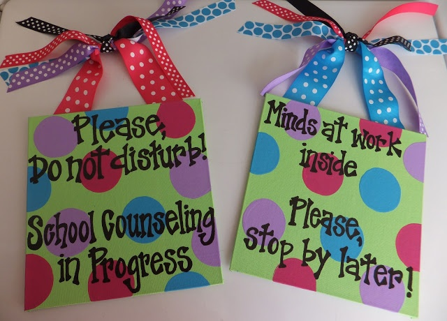 New Blog Post - Do Not Disturb...Please! Signs for your office door at Entirely Elementary...School Counseling
