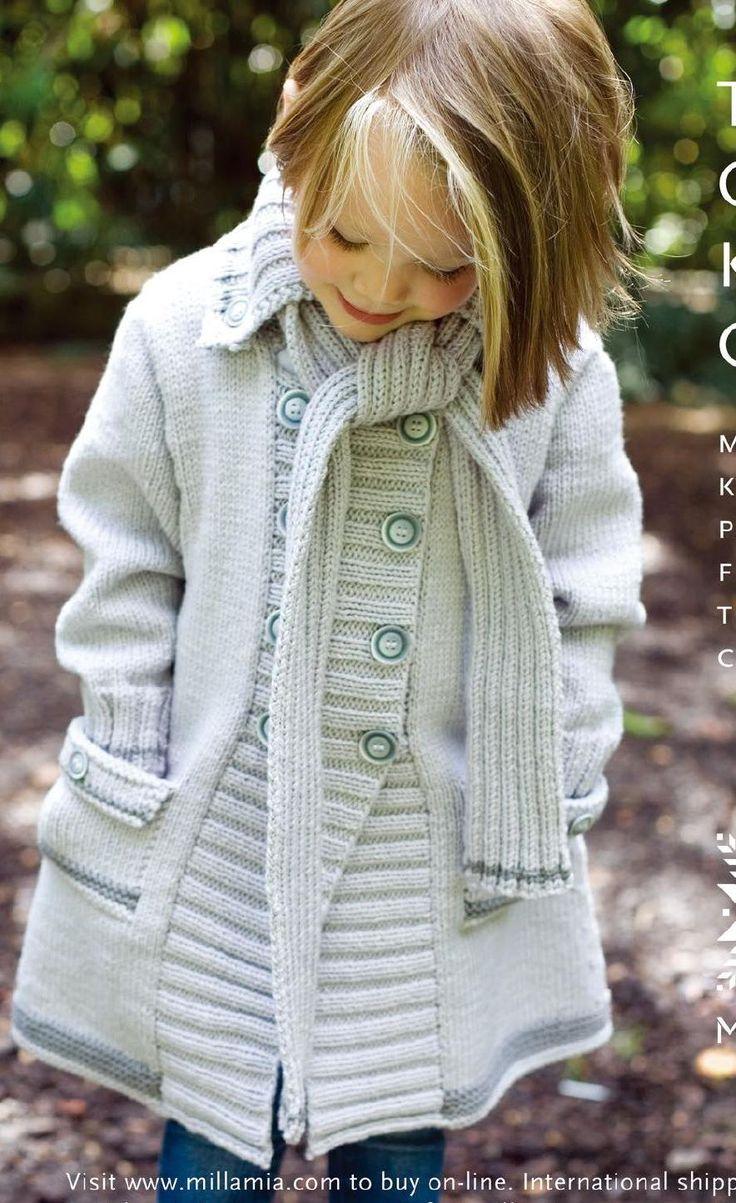 94 best Knitting coats for girls images on Pinterest | Knitting ...