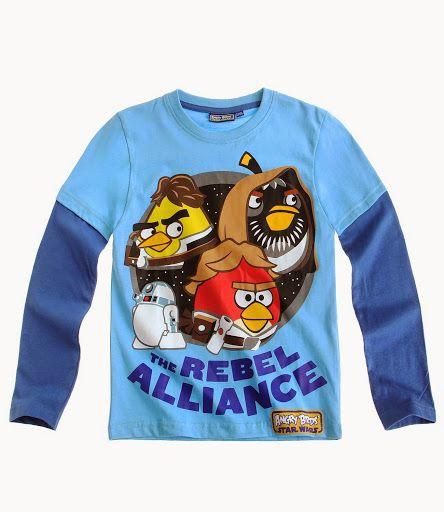 Angry Birds Star wars felsők a nagyobb fiúknak.  Keresd a webshop polcain 104-es mérettől:  www.ruha-sziget.hu