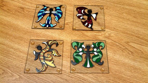 Angel Coasters Set of 4 by Creativecraftsbylodo on Etsy, $45.00
