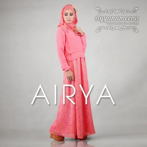 Ayyanameena Airya: Ayyanameena Airya Pink  #motif #chiffon #sifon #ayyanameena #airya #dress #moslem #hijab #jilbab #fashion #women #pink #magenta
